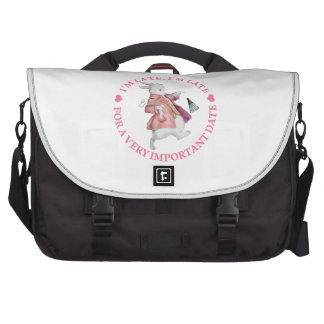 I'm Late, I'm Late, For A Very Important Date! Laptop Commuter Bag