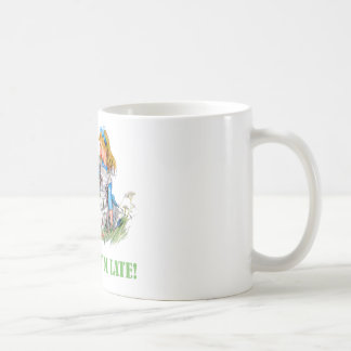 I'M LATE, I'M LATE! FOR A VERY IMPORTANT DATE! CLASSIC WHITE COFFEE MUG