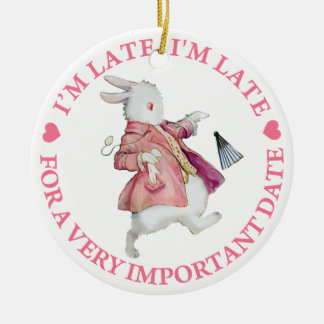I'm Late, I'm Late, For A Very Important Date! Christmas Tree Ornaments