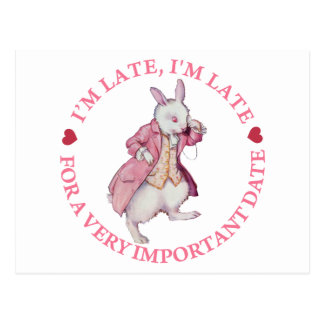 I'm Late, I'm Late For a Very Important Date! Postcard
