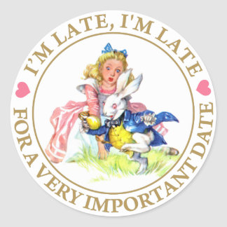 I'm Late, I'm Late For a Very Important Date! Sticker