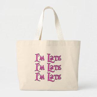 I'm Late, I'm Late, I'm Late Alice in Wonderland Canvas Bag