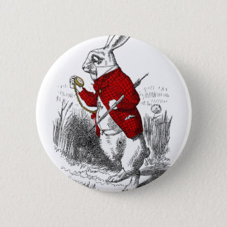 I'm Late, I'm Late Pinback Button