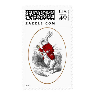 I'm Late, I'm Late Postage Stamps