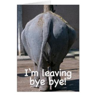 I'm leaving card