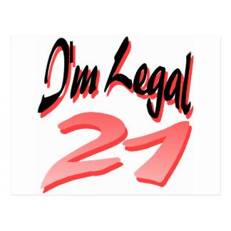 I'm Legal 21 Postcard
