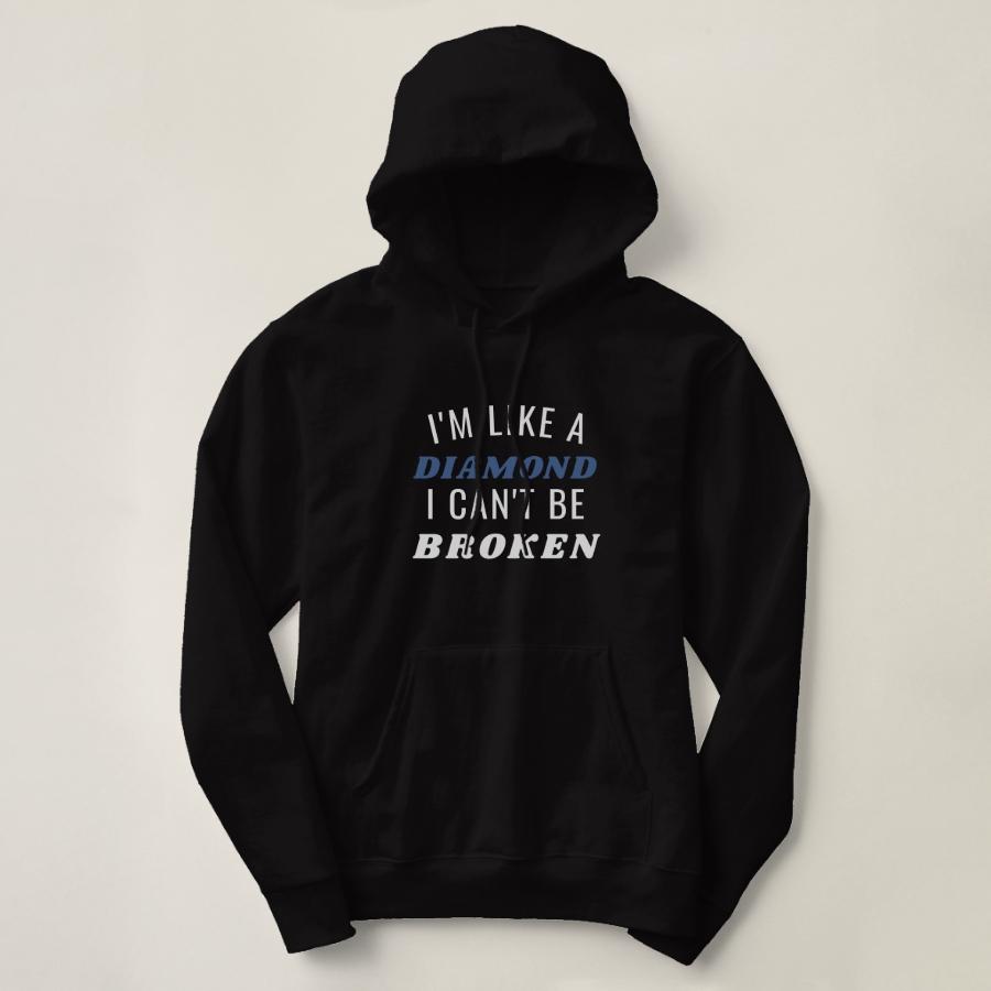 I'm Like A Diamond Basic Hooded Sweatshirt - Creative Long-Sleeve Fashion Shirt Designs