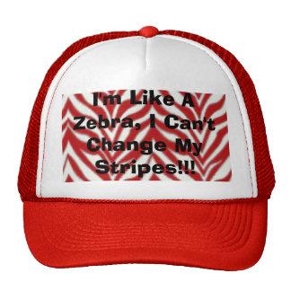 I'm Like A Zebra, I Can't Change My Stripes!!! Trucker Hat