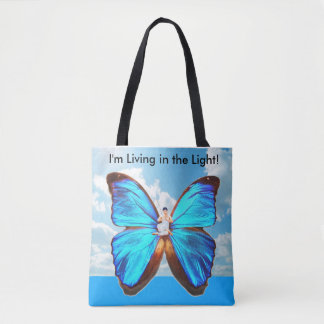 im living in the light awesome tote bag