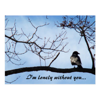 """""""I'm lonely without you..."""" postcard"""