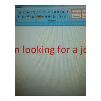 I'm looking for a job... custom letterhead
