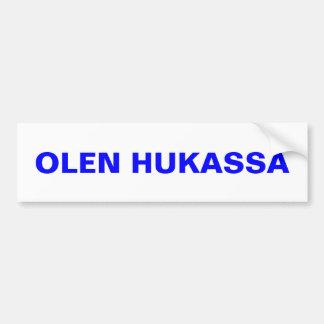 I'm Lost ~ Bumper Sticker Upper Peninsula Finland Car Bumper Sticker