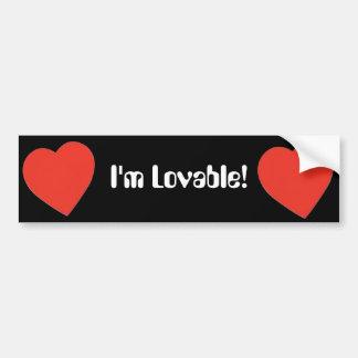I'm Lovable Bumper Sticker