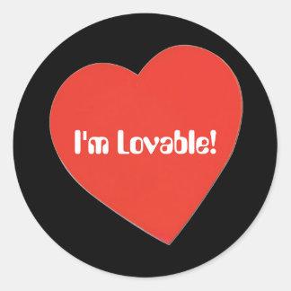 I'm Lovable Classic Round Sticker