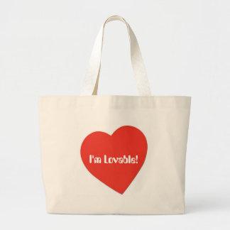 I'm Lovable Large Tote Bag