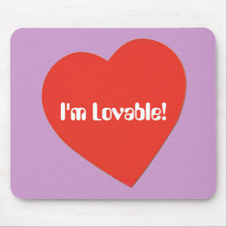 I'm Lovable Mouse Pad