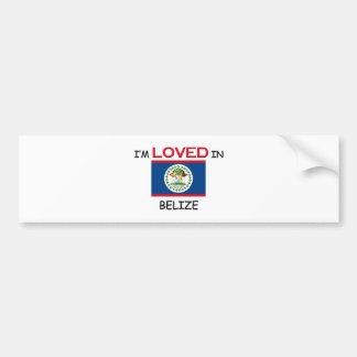 I'm Loved In BELIZE Car Bumper Sticker