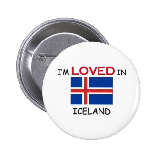 I'm Loved In ICELAND Button
