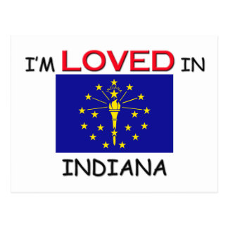 I'm Loved In INDIANA Postcard