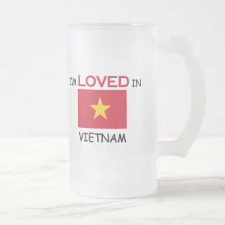I'm Loved In VIETNAM Frosted Glass Beer Mug