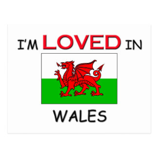 I'm Loved In WALES Postcard