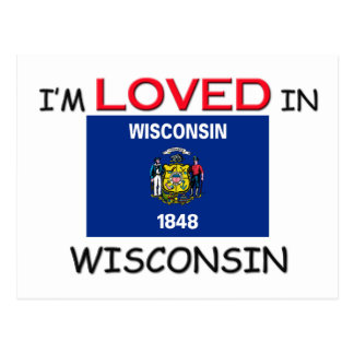 I'm Loved In WISCONSIN Postcard