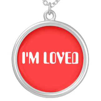 I'm Loved Round Pendant Necklace