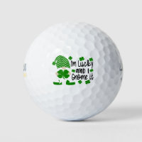 I'm Lucky And I Gnome It Funny St Patrick's Day Golf Balls