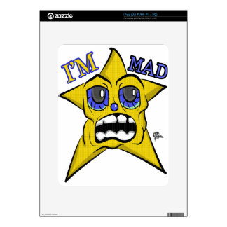 I'm Mad Blue Eyes Yellow Star Skins For The iPad