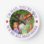 I'm Mad, You're Mad, We're All Mad Here! Wall Clocks