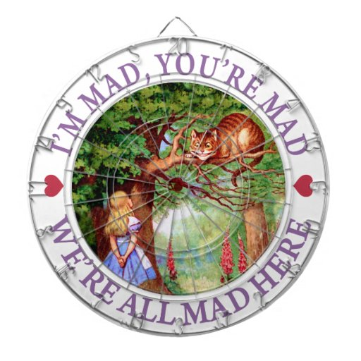 I'm Mad, You're Mad, We're All Mad Here! Dartboards