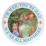 """""""I'm Mad, You're Mad, We're All Mad Here!"""" Party Plate"""