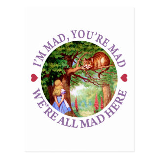 I'm Mad, You're Mad, We're All Mad Here! Postcard