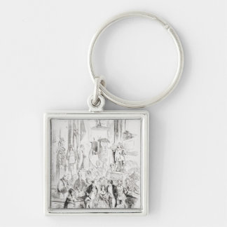 I'm Married Silver-Colored Square Keychain