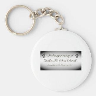 im memory of dallas tre stout duvall basic round button keychain