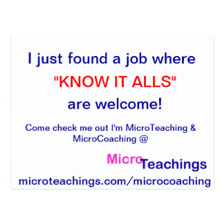I'm MicroTeaching Now Postcard