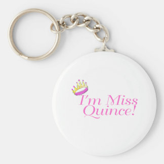 I'm Miss Quince Basic Round Button Keychain