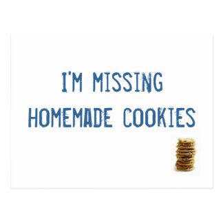 I'm missing homemade cookies! postcards