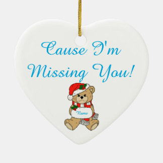 I'm Missing You Christmas Ornament