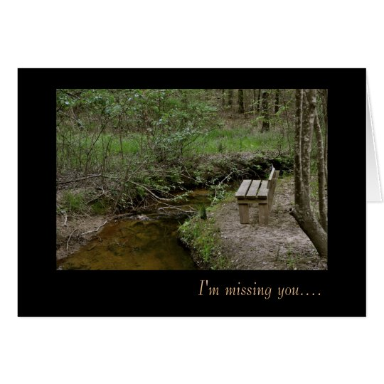 I'm missing you - Notecard