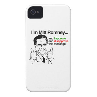 I'm Mitt Romney and I approve thiis message.png iPhone 4 Case