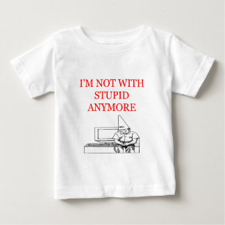 i'm mnot with stupid divorce joke baby T-Shirt