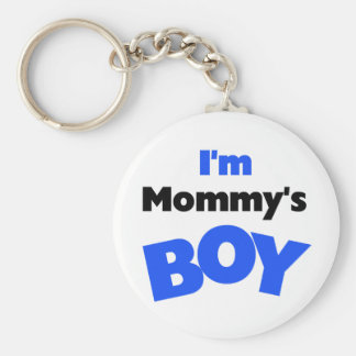 I'm Mommy's Boy T-shirts and Gifts Basic Round Button Keychain