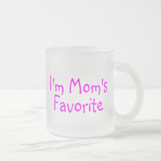 Im Moms Favorite Frosted Glass Coffee Mug
