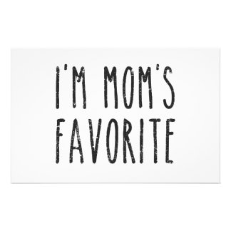 I'm Mom's Favorite Son or Daughter Stationery