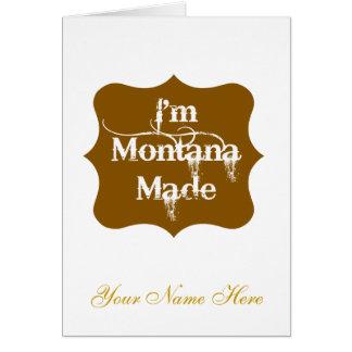I'm Montana Made Brown Card