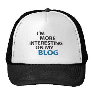 I'm More Interesting On My Blog Trucker Hat