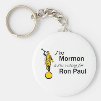 I'm Mormon, and I'm voting for Ron Paul! Keychain