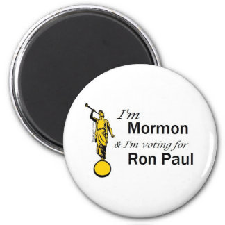 I'm Mormon, and I'm voting for Ron Paul! Fridge Magnet