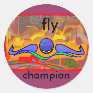 IM Morn Fly Classic Round Sticker